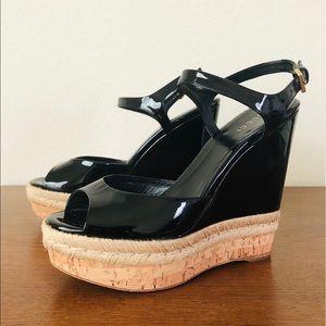 Gucci 310307 Hollie Espadrille Wedge Sandals